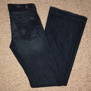7 for all mankind Jeans Dojo Size 27 x 36 Rare